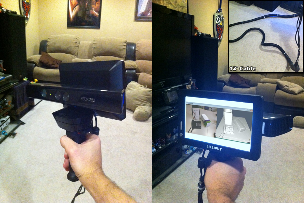 DIY Handheld Kinect Scanner | ReconstructMe